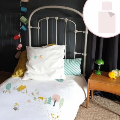 Housse de couette taie fret 140 x 200 cm mimi 39 lou for Housse de couette mimi la souris