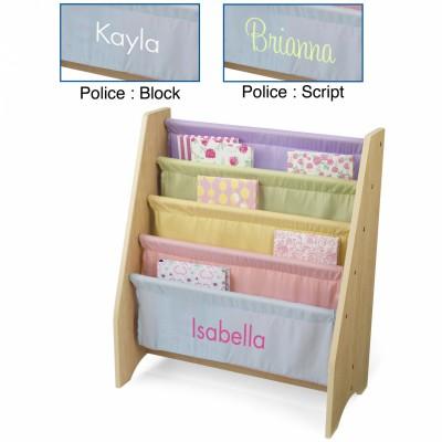 Bibliothèque pour enfants à compartiments pastel personnalisable
