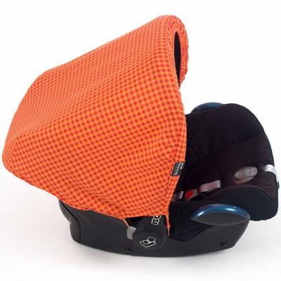 Capote pour siège-auto groupe 0 happy fluor orange