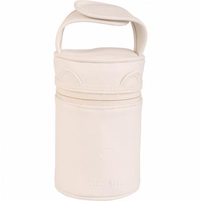 Porte petits-pots isotherme écru avec cuillère