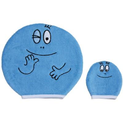Lot de 2 gants barbapapa adulte et bébé bleu