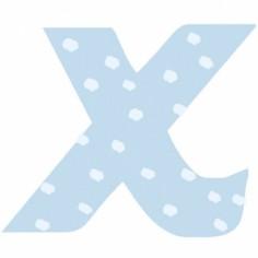 Lettre adh�sive X My ABC blue by Anne Cresci - Lilipinso