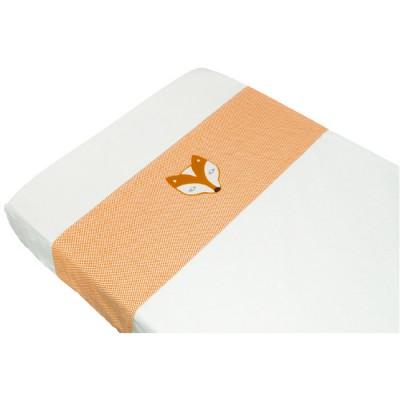 Drap de lit corbeau et renard orange (100 x 80 cm)