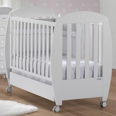 Lit bébé valeria relax blanc (60 x 120 cm)