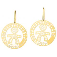 Boucles d'oreilles gar�on I Ricami (or jaune 375�) - LeBeb�