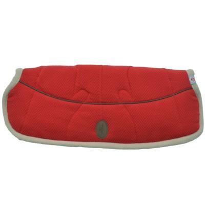 Moufles pour poussette rouge et beige warmer reluxury