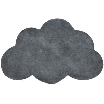 tapis coton nuage gris anthracite 64 x 100 cm lilipinso. Black Bedroom Furniture Sets. Home Design Ideas