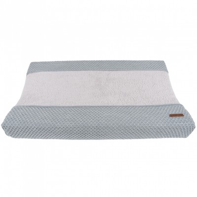 Housse de matelas langer sun gris et gris argent 45 x 70 for Housse matelas a langer gris