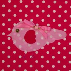 Tableau Candy Colours Bye Bye Birdie rouge (20 x 20 cm) - Moepa