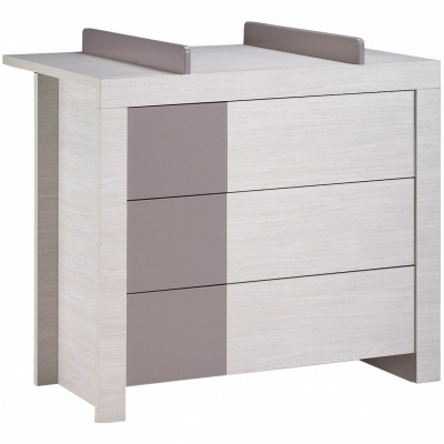 commode 3 tiroirs opale taupe avec dispositif langer. Black Bedroom Furniture Sets. Home Design Ideas