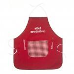 Tablier brod� Mini gastronome rouge/vichy (3-5 ans) par BB & Co
