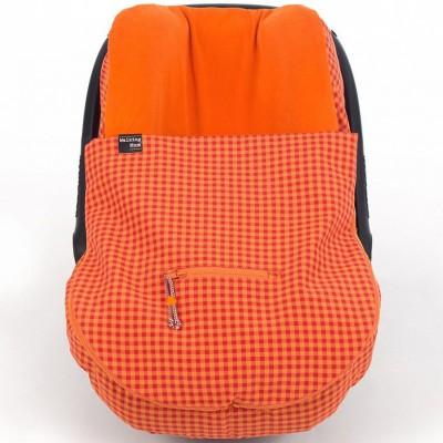 Chancelière 2 en 1 légère happy fluor orange pour siège groupe 0
