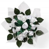 Bouquet de naissance Posy blanc (7 pi�ces) - Babyblooms