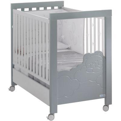Lit bébé dolce luce relax plus gris/blanc (60 x 120 cm)