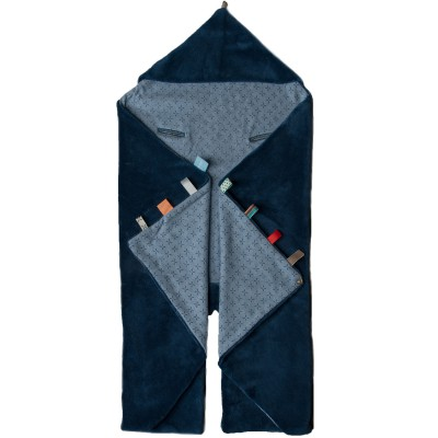 Couverture nomade trendy wrapping indigo blue