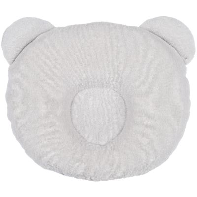 Coussin anti-tête plate p'tit panda gris