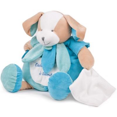 Cachette à doudou et ses activités chien menthe (40 cm)