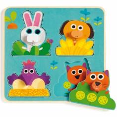 Puzzle Fermanimo (4 pi�ces) - Djeco