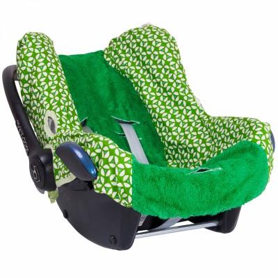 Housse de cosy pour siège-auto cabrio geo green