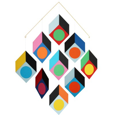 mobile en papier cubillusion livingly berceau magique. Black Bedroom Furniture Sets. Home Design Ideas