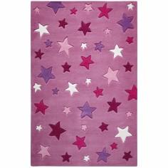 Tapis Simple Stars violet (150 x 220 cm) - Smart Kids