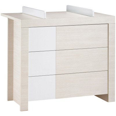 commode 3 tiroirs opale blanc avec dispositif langer. Black Bedroom Furniture Sets. Home Design Ideas
