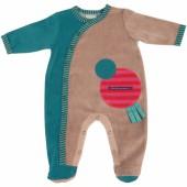 Pyjama vert Les jolis pas beaux (3 mois : 60 cm) - Moulin Roty