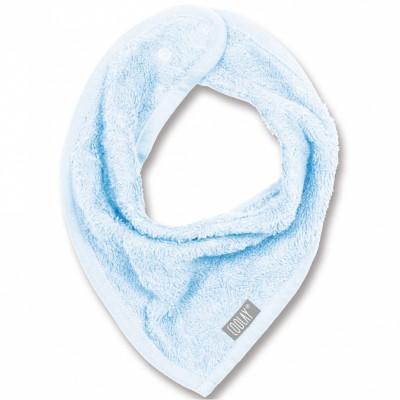 Bavoir bandana bleu pastel