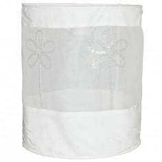 Suspension lampion en tissu Fleur blanc - Taftan