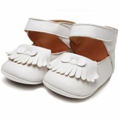 Chaussures semelle souple en cuir Sol�ne blanc (5-9 mois) - Paskap