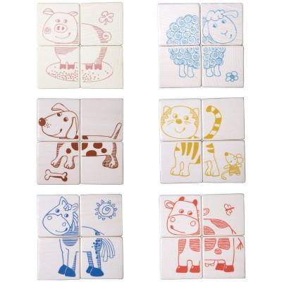 Puzzle cubes les animaux domestiques (24 pièces)