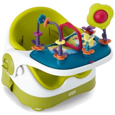Réhausseur et plateau d'activités baby bud vert anis