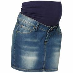 Jupe courte de grossesse jean bleu nuit Stella (taille 40) - Noppies
