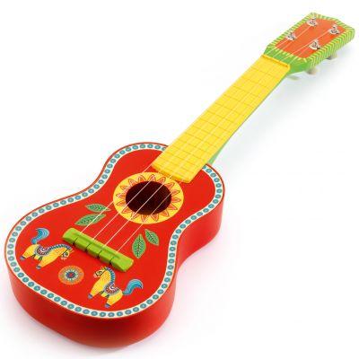Guitare rouge et jaune