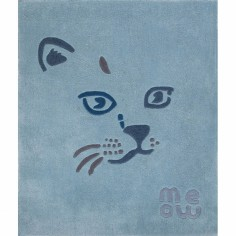 Tapis Meow le chat bleu (110 x 130 cm) - Art for Kids