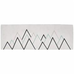 Tapis coton montagnes mint by Claudia Soria (70 x 200 cm) - Lilipinso