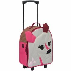Petite valise � roulettes 4 kids biche - L�ssig