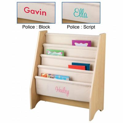 Bibliothèque pour enfants à compartiments naturel personnalisable