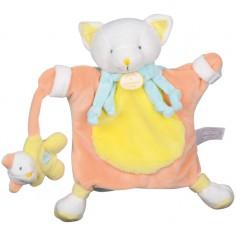Doudou marionnette chat jaune (24 cm) - Doudou et Compagnie