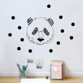 Sticker mural t�te de panda - Mimi'lou