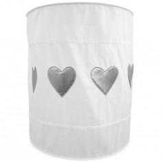 Suspension lampion en tissu Coeur blanc - Taftan