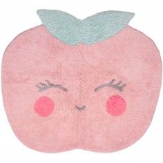 Tapis lavable Candy Apple rose (100 x 100 cm) - Nattiot