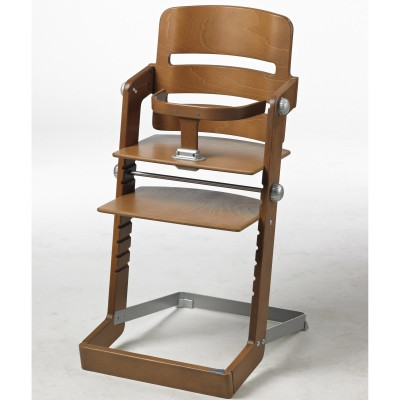 chaise haute en bois laura coloris aluminium baby d co chaise haute en bois berceau magique. Black Bedroom Furniture Sets. Home Design Ideas