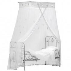 Ciel de lit Coeurs suspendus blanc - Taftan