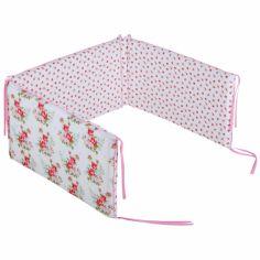 Tour de lit b�b� Floral rose (pour lits 60 x 120 et 70 x 140 cm) - Little Dutch