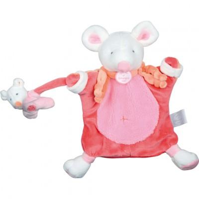 Doudou marionnette souris (24 cm)