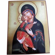 Ic�ne Vierge � l'enfant Tendresse (18 x 24 cm) - Mondo Religioso