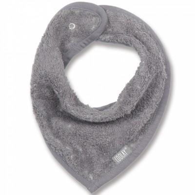 Bavoir bandana gris foncé