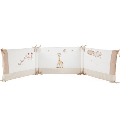 tour de lit sophie la girafe pour lits 60 x 120 et 70 x. Black Bedroom Furniture Sets. Home Design Ideas