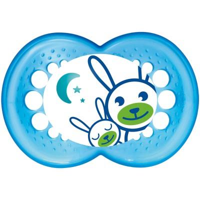 Sucette nuit garçon silicone phosphorescent motif aléatoire (6 mois et +)
